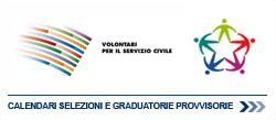 Calendario selezioni graduatorie servizio civile